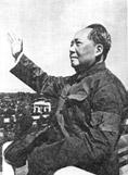 紅衛兵の腕章を贈られた毛沢東
